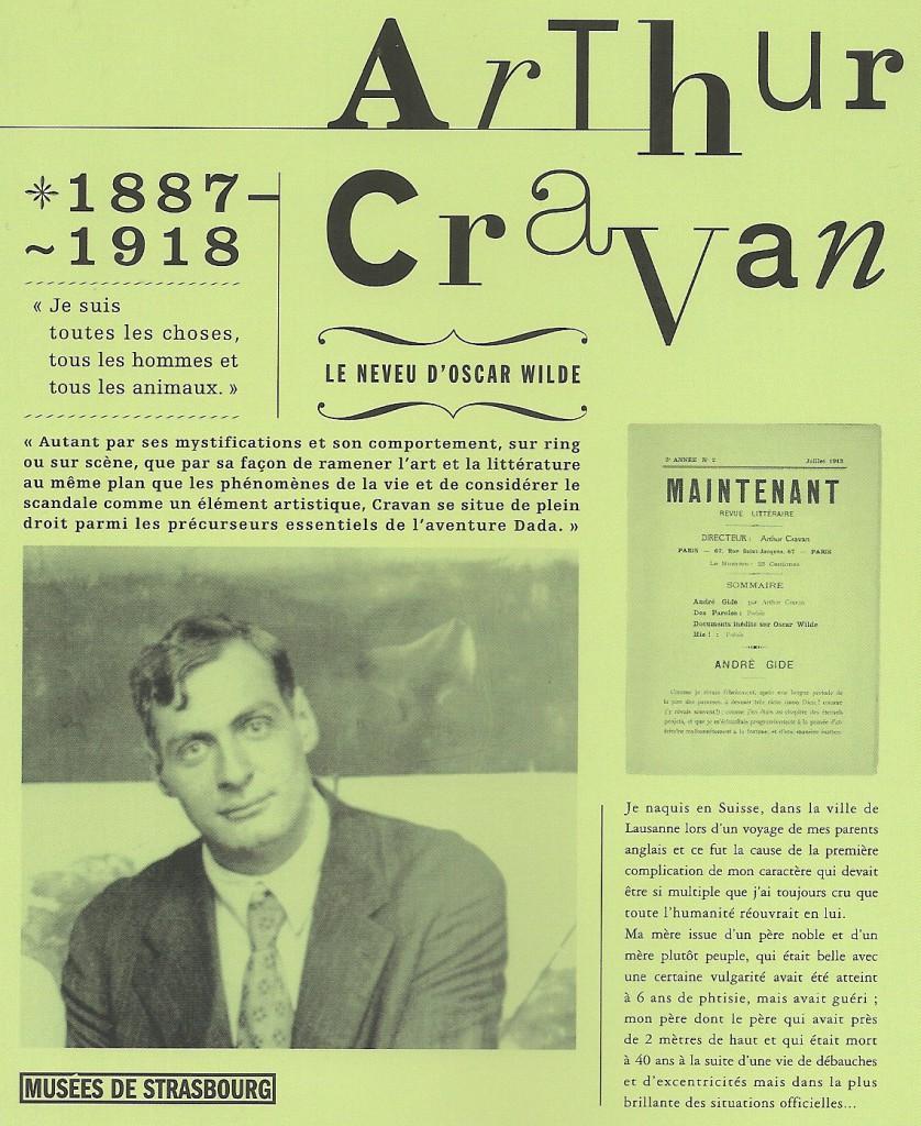 Couverture du catalogue Arthur Cravan