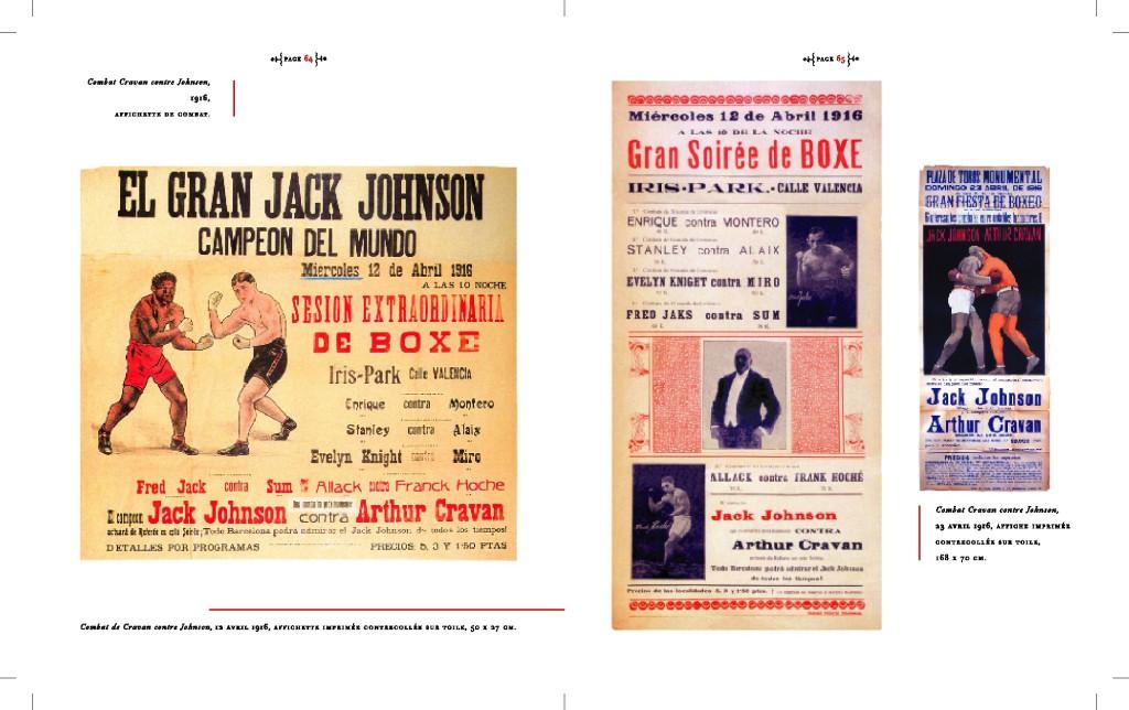 Affiches Boxe Johnson contre Cravan