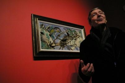 """Georges Sebbag, commissaire de l'exposition Exposition """"Chassé-croisé Dada-Surréaliste 1916-1969"""", Espace d'art contemporain Fernet-Branca, Saint-Louis / Alsace, janvier 2012"""