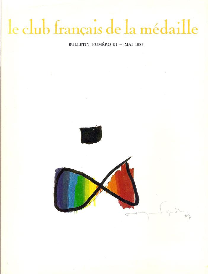 Couverture Le Club français de la médaille Mai 1987