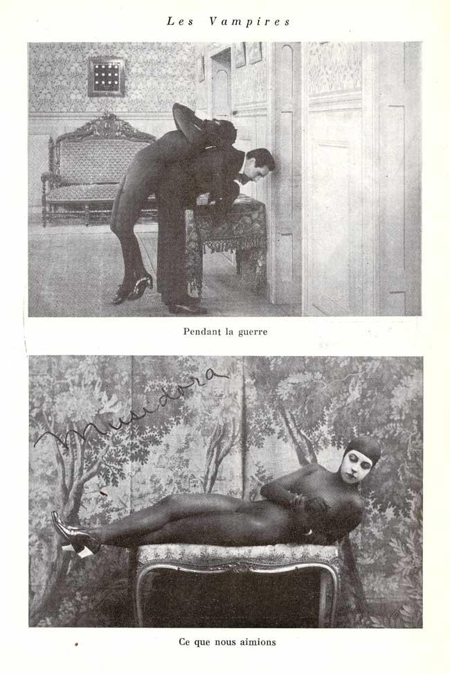 Musidora dans Les Vampires de Louis Feuillade