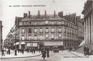 Nantes-carte postale hotel