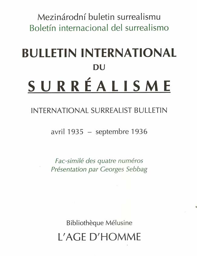 BULLETIN international du surrealsime